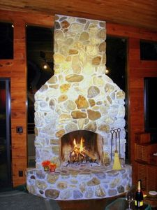 Big Sur River Rock fireplace and all the wood you want!