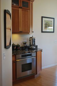 Coffee bar. The kitchen includes a plenty of granite counter space