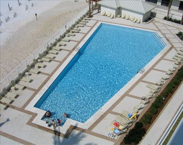 View of Outdoor Pool From Unit