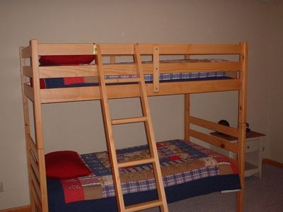 1st Downstairs Bedroom (twin bunk beds)