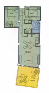 Boardwalk condo rental - Floor plan codo 108.