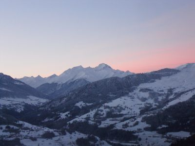 Falera chalet rental - Closely after a sunset in January