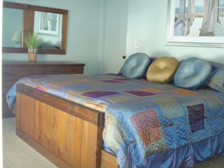 Edgartown house photo - Spacious King Bedroom with walk-in closet, fan & sliding door to private deck