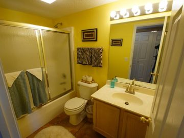 The Hall Bath includes a Tub / Shower Combo and Upgraded Fixtures