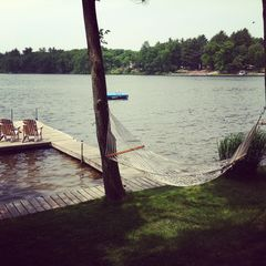 Gowen cottage photo - Relax in the hammock on the lake