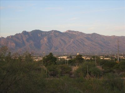 View to Catalina Mountains from porch.