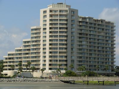 View of the North Tower from the Beach!