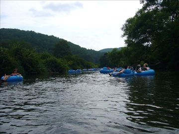 Tubing down the New River