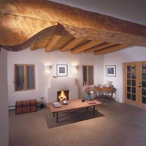 Living Room at Desert Oak 'Live the Essence of Taos' Heart of Historic District