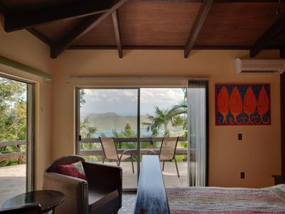 Upper West Bedroom with views over Cinnamon Bay