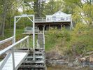 On the dock looking up at cottage! - Brunswick cottage vacation rental photo