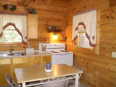 Fully equipped kitchen to create great meals and never leave your cabin.