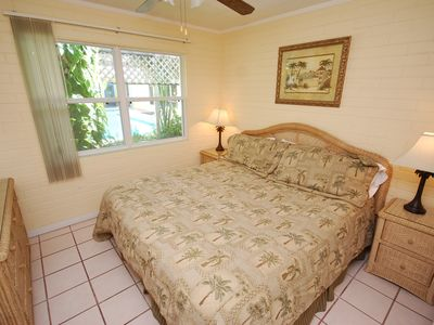 King bed in poolside Villa # 4!