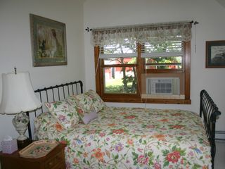 Lake Sinissippi cottage photo - Upstairs Bedroom overlooks 200+ year old burr oak and barns
