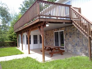 House rear, facing lake - Edinburg house vacation rental photo