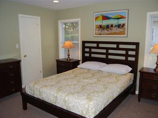 Rehoboth Beach house photo - Bedroom with beautiful new furnishings, queen bed, full bathroom and TV