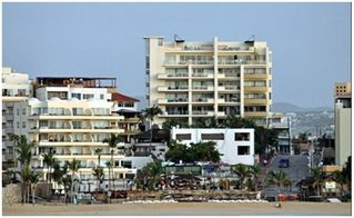 Cabo San Lucas condo photo - View from Medano Beach. Unit #7018 - Corner unit located on the 6th Floor.