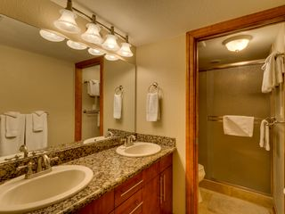 Carnelian Bay townhome photo - Bathroom 1 w/Walk in shower and dual sinks