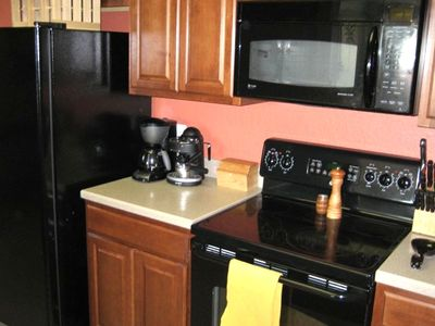 Full Gourmet Kitchen with Cooking Utensils, Appliances, Blender & Coffee Maker