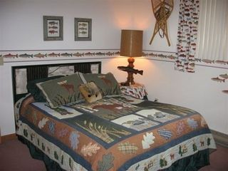 Lake Placid condo photo - Bedroom-Queen Bed, TV, bunk beds