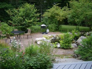 Wiscasset house photo - Patio in late June