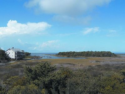 View from 'The My House' of marsh life and The Pamlico Sound
