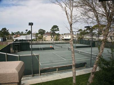 Tennis Courts located directly behind the Guesthouse