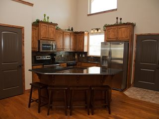 Branson house photo - Kitchen - Main Level, well equipped with large center island