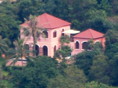 Villa setting from a distance