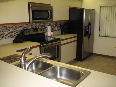 Newly renovated kitchen with all new stainless steel appliances
