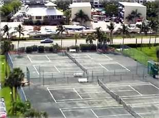 4 well maintained CLAY courts, best in area. Usable both units.