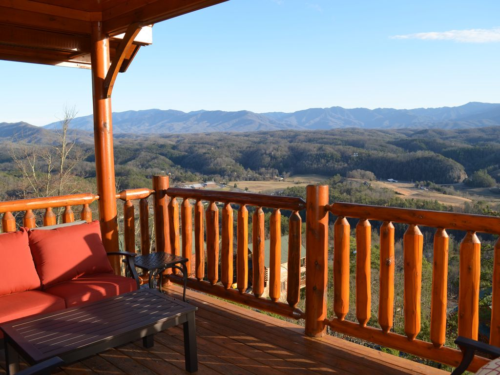 Luxury 1 br the best view of the great homeaway Best mountain view cabins in gatlinburg tn