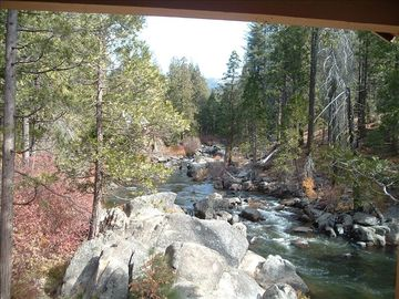 Strawberry cabin rental - View From the Deck! Truly a WATERFRONT Cabin!