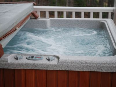 Chimney Rock house rental - Relax In The Hot Tub.