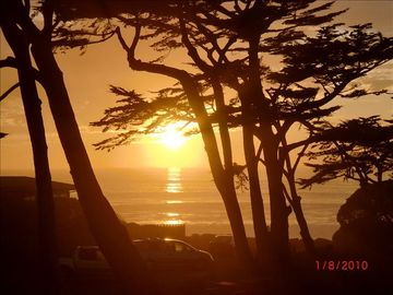 Cambria house rental - Actual sunset photo from our home.
