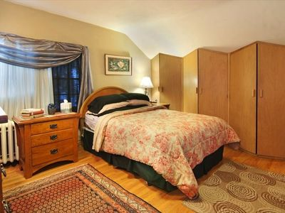 Hiawatha room has architectural closets, TV, massive dresser and reading area