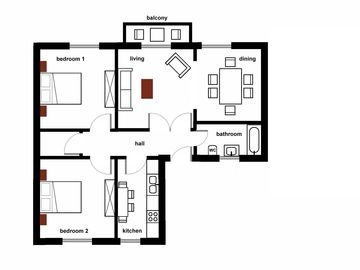 4 ROOMS apartment - plan