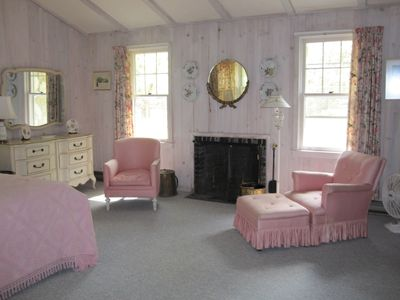"Torch Lake cottage rental - ""White room"" - one of eight bedrooms."