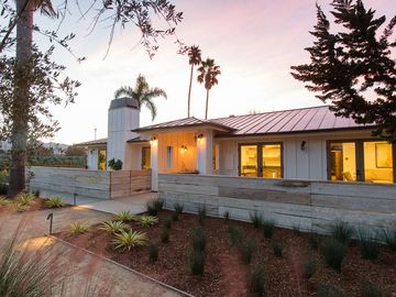 San Luis Obispo house rental - Front view of the ranch house