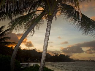 Hauula house photo - Sunset at Hale Moana Mele 'House of Ocean Music'