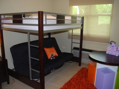 2nd room with bunk full size bed and full futton w/ A/C...!