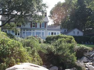 Gloucester - Annisquam house photo - A exterior view of our home from the beach.