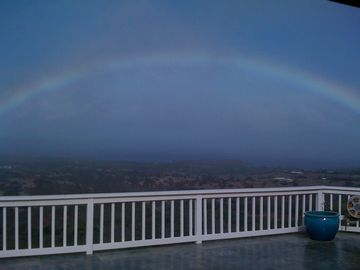 Rainbow over looking rear deck