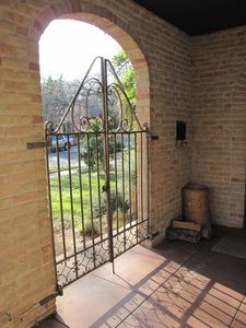 Original Iron Gate on porch