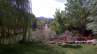 Sedona house photo - View from the back porch - Cathedral Rock, 15 mi south