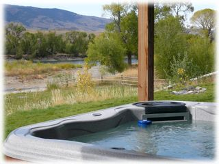 Livingston house photo - Hot tub with river views!