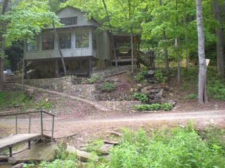 Ellijay cabin photo - across the creek