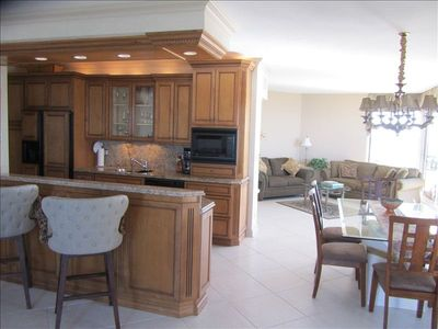 Kitchen & dining area, clean NEW furniture. Use best cleaning service on Marco
