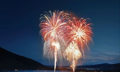 View the fireworks on the lake from the deck during New Years and 4th of July