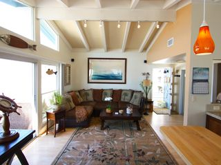 Marina del Rey condo photo - Comfy living room with fold out coffee table